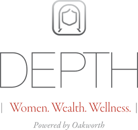 Infographic - Depth - Women, Wealth, Wellness - Powered by Oakworth